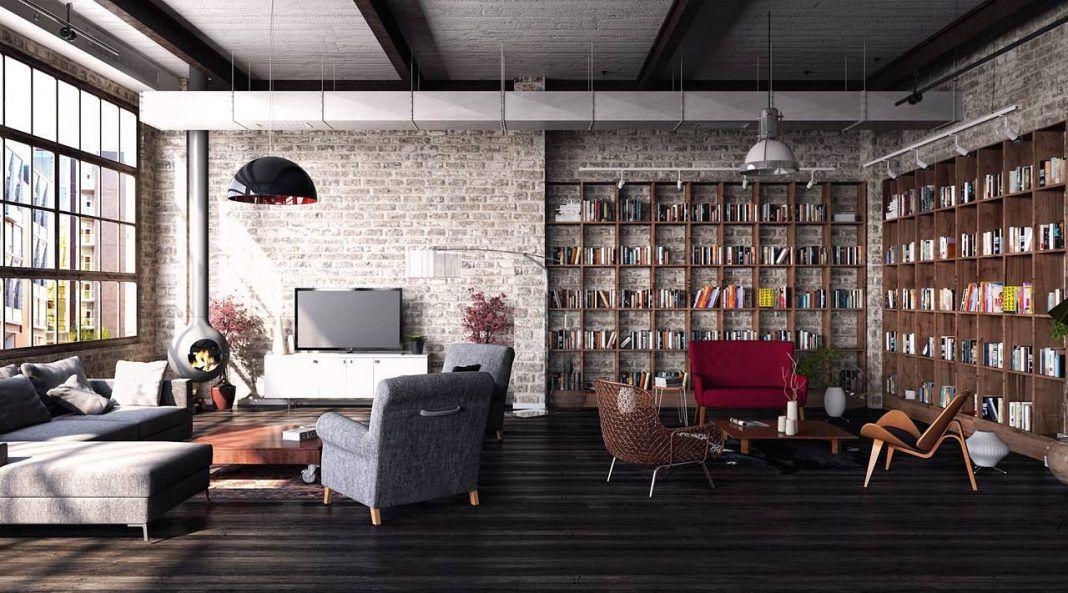 loft дизайн в комнате