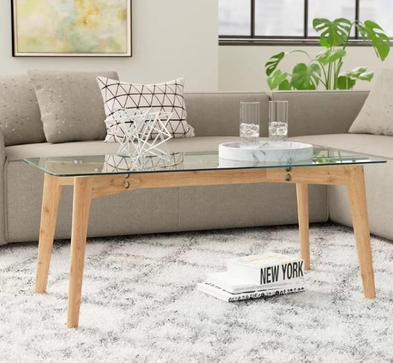 купить столик журнальный от производителя из дерева и стекла