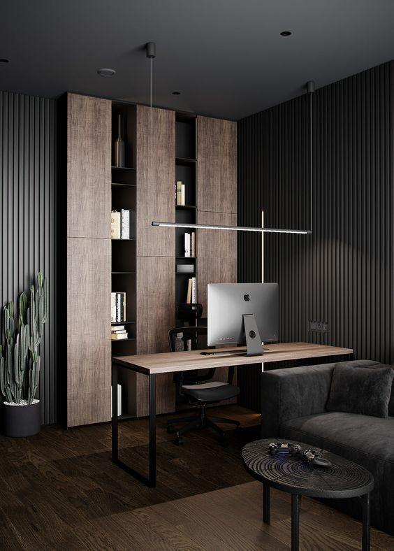 Идеи и примеры домашнего кабинета в стиле лофт