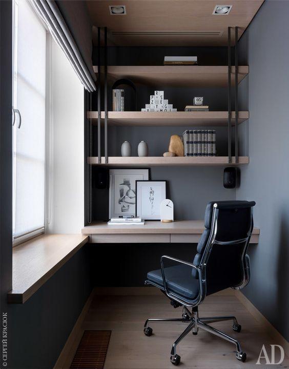 пример офиса кабинета в стиле лофт
