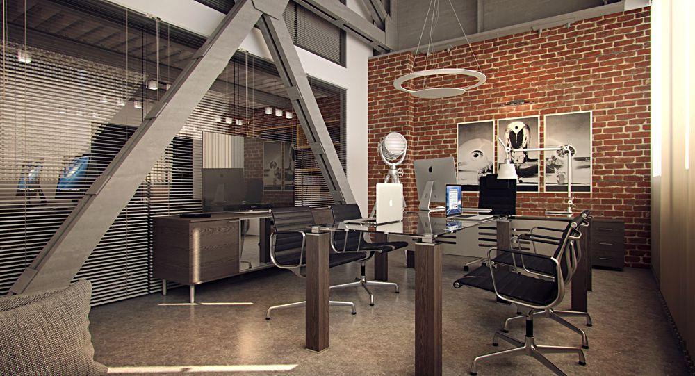 как оформить офис в стиле LOFT