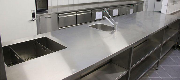 столешница из металла для кухни