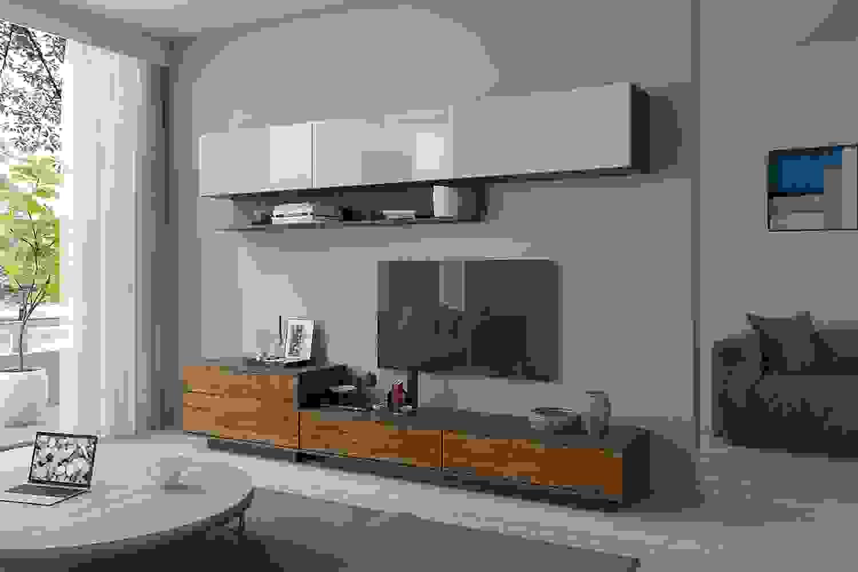 глянцевая мебель в спальне