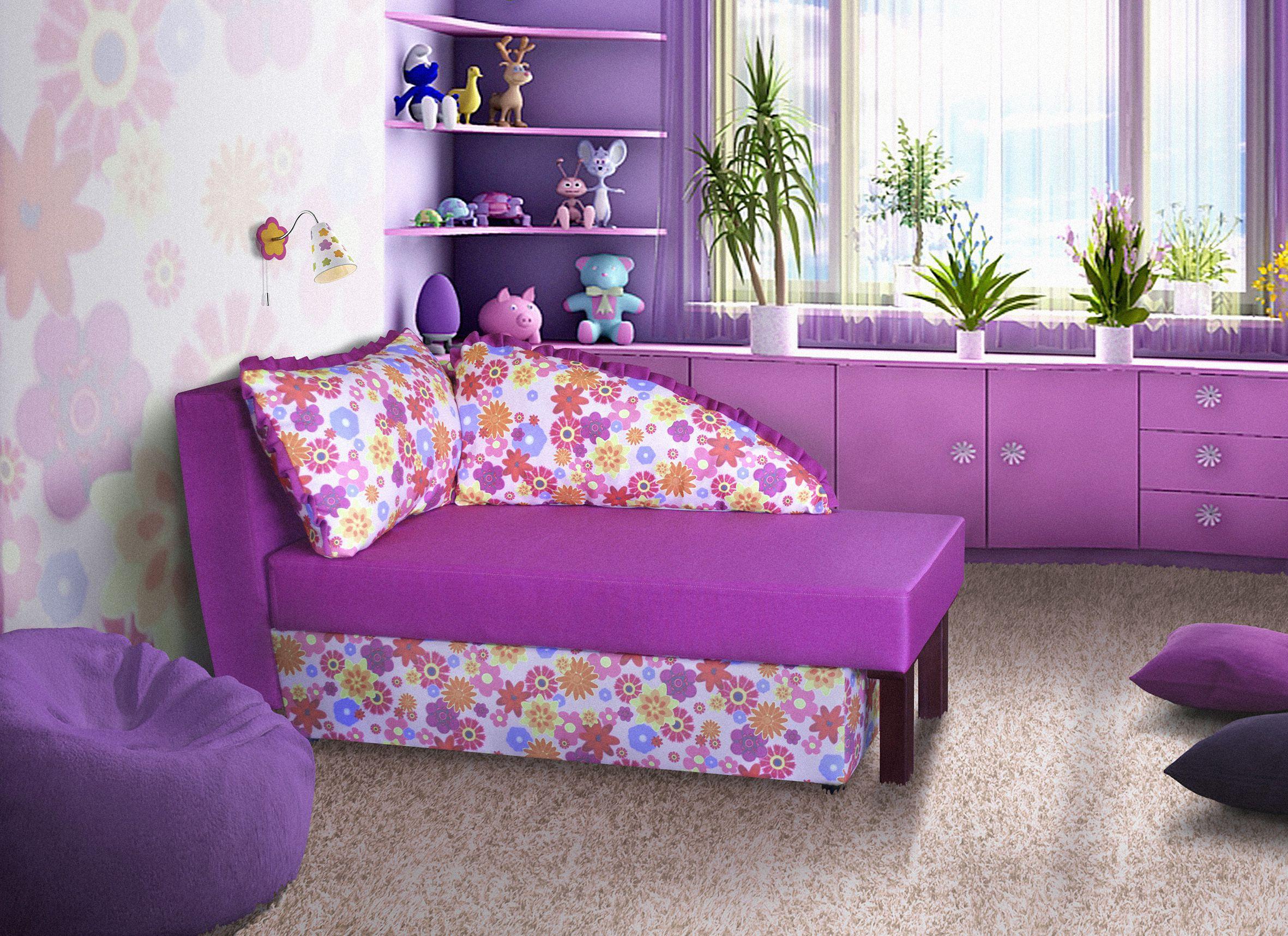 фиолетовый детский диванчик