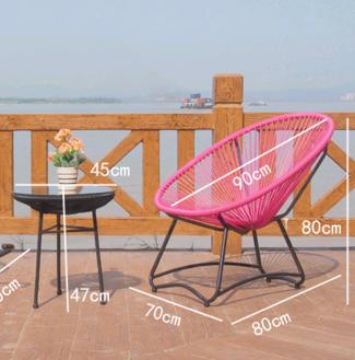 Купить плетённый столик и кресло из техноротанга