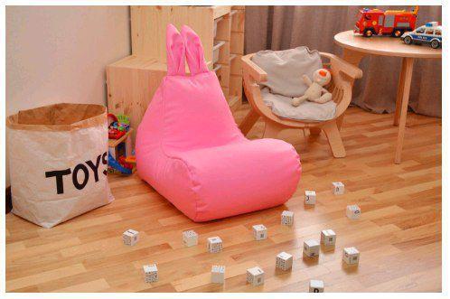 Как сделать детскую комнату яркой при помощи бескаркасной мебели?