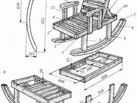 готовые чертежи для кресла качалки