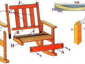 чертежи для кресла качалки