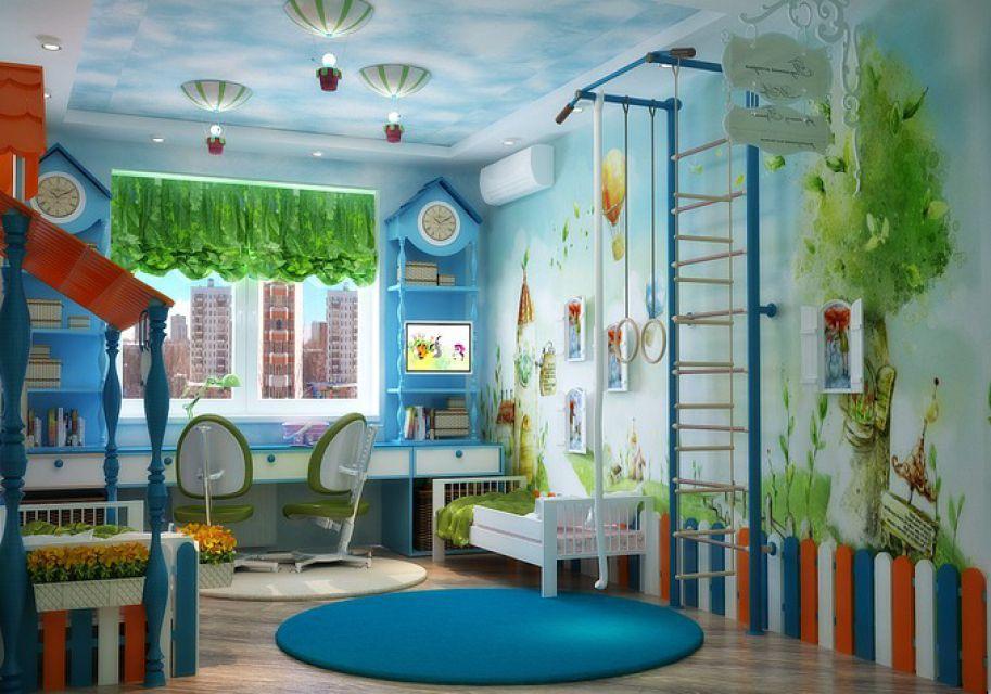 интерьер детской комнаты недорого