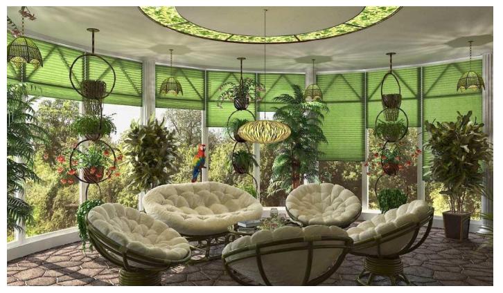 Как Оформить интерьер Зимнего Сада в Доме?