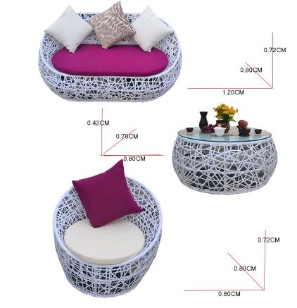 Садовый комплект мебели из искусственного ротанга