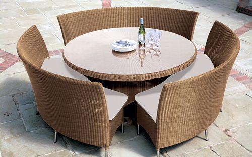 уличный комплект мебели из ротанга
