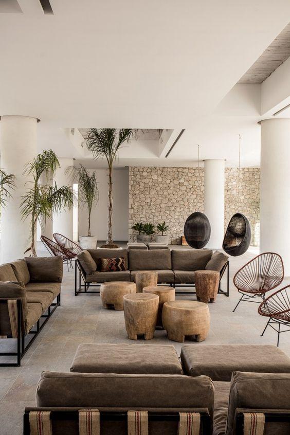 комплекты мебели из ротанга в квартире фото