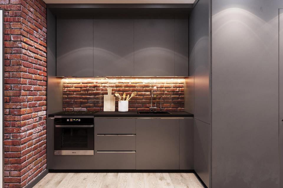 кухня небольшая loft