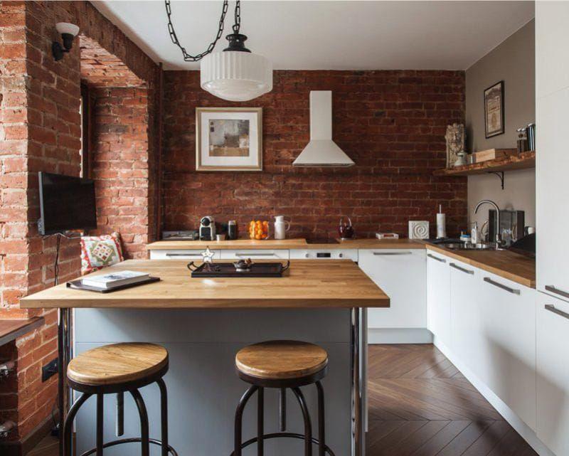 ремонт маленькой кухни в лофт стиле