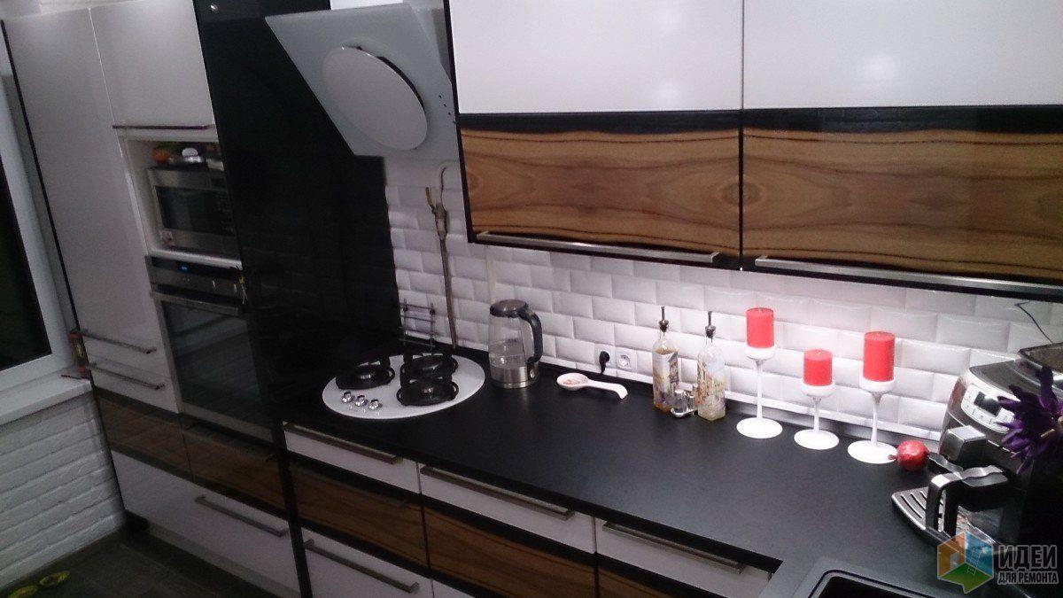 интерьер лофт в кухне