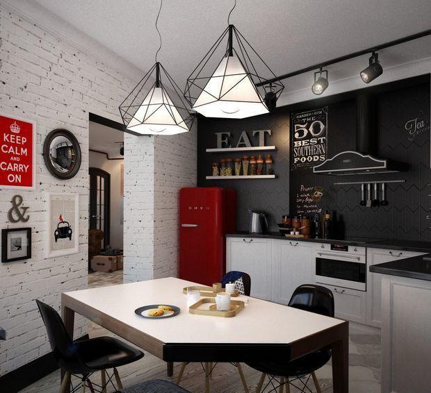 лофт мебель для небольшой кухни