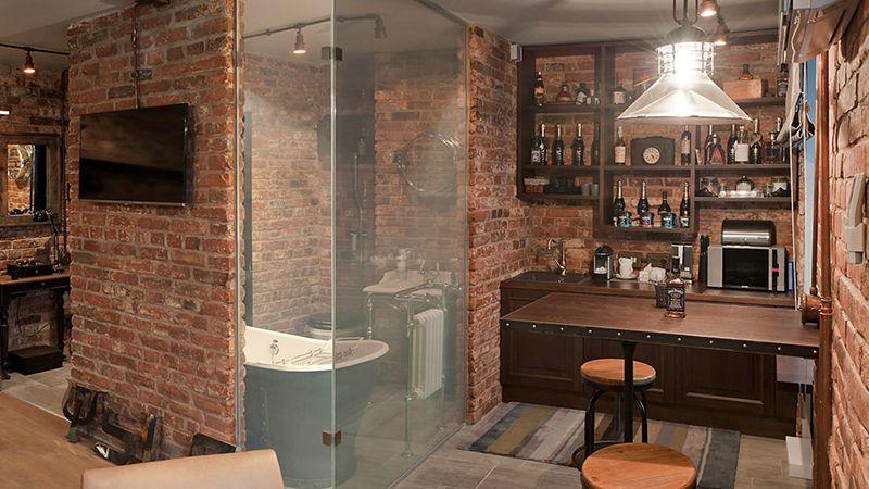 Лофт интерьер стиль маленькая кухня