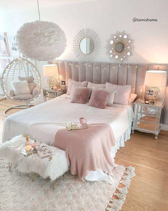 подвесное кресло в спальне круглое