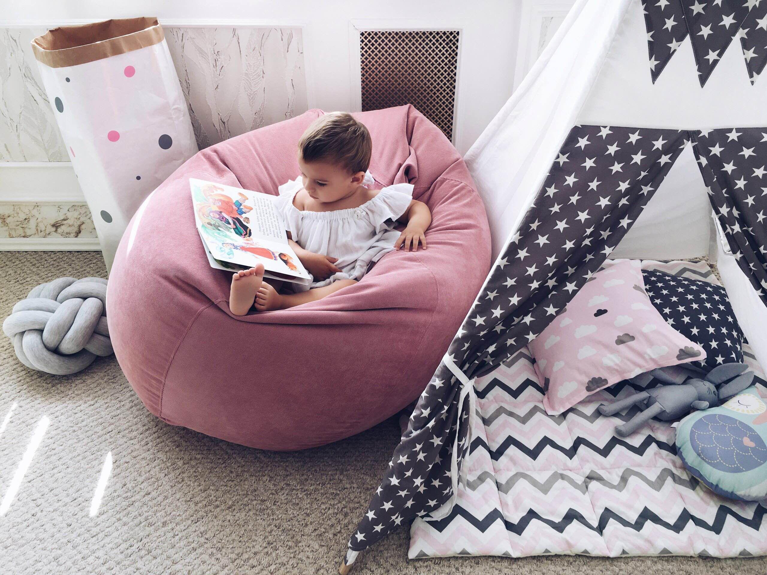 бескаркасная мебель в детскую